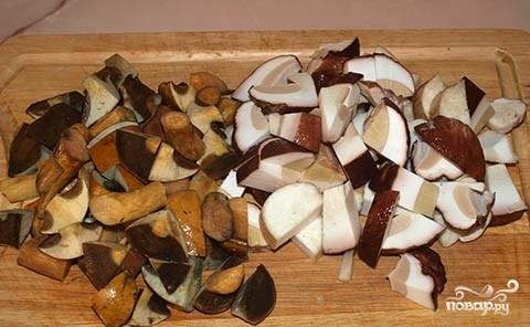 Рецепт Белые грибы в мультиварке