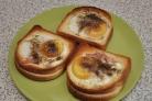 Бутерброды в духовке с яйцом