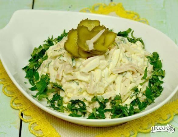 Салат из кальмаров с яйцом - фото шаг 4