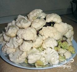 Рецепт Цветная капуста с сыром в духовке