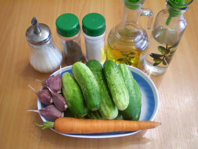 Салат из огурцов на зиму по-корейски - фото шаг 1