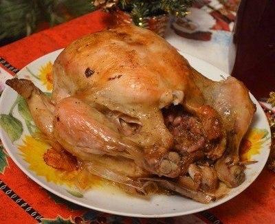 Курица, фаршированая гранатом и сыром - фото шаг 6