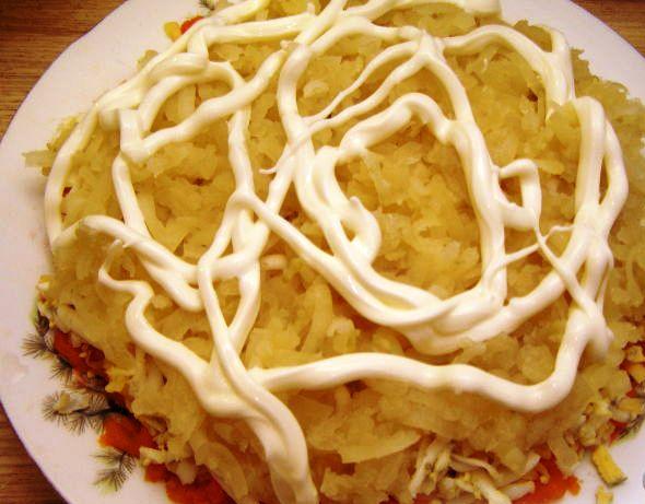 Салат с грудинкой и грибами - фото шаг 5