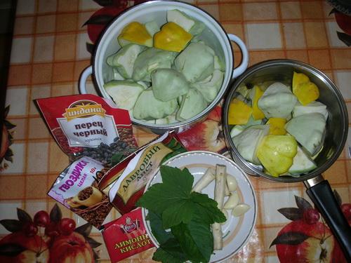 Маринованные патисоны с лимонной кислотой - фото шаг 1