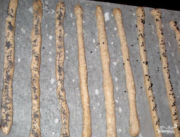Хлебные палочки - фото шаг 4