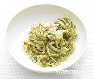Рецепт Паста с соусом Песто из шпината