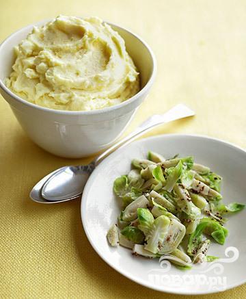 Салат из брюссельской капусты с приправой