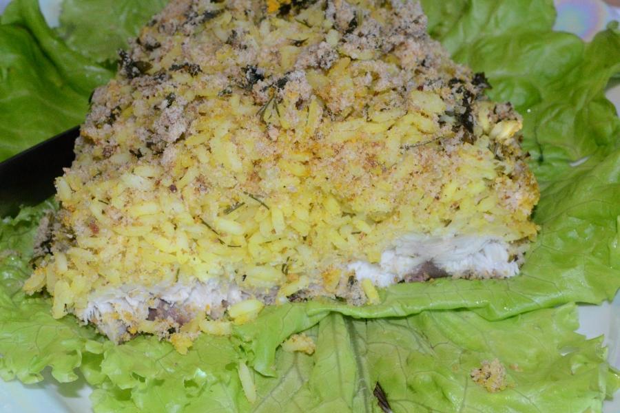 Скумбрия фаршированная желтым рисом - фото шаг 6