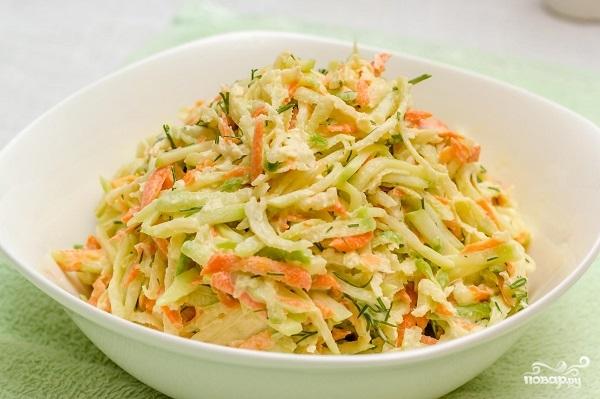 вкусный салат с зеленой редькой рецепт с фото