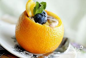 Рецепт Апельсиново-голубичное суфле