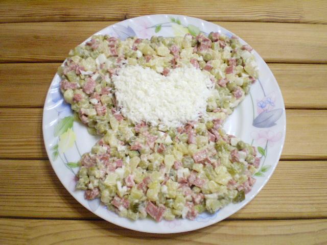 "Салат ""Обезьянка"" оливье - фото шаг 6"