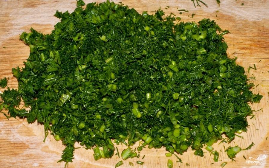 Помидоры, фаршированные зеленью и чесноком - фото шаг 2