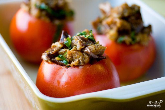 Рецепт Запеченные помидоры с грибами