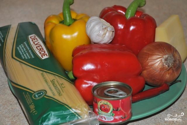 Рецепт Спагетти с болгарским перцем