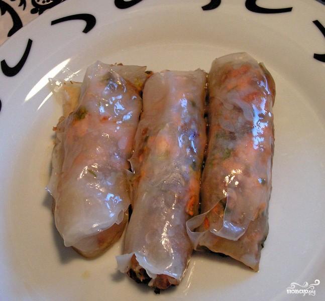 Рисовые блинчики с лососем - фото шаг 5