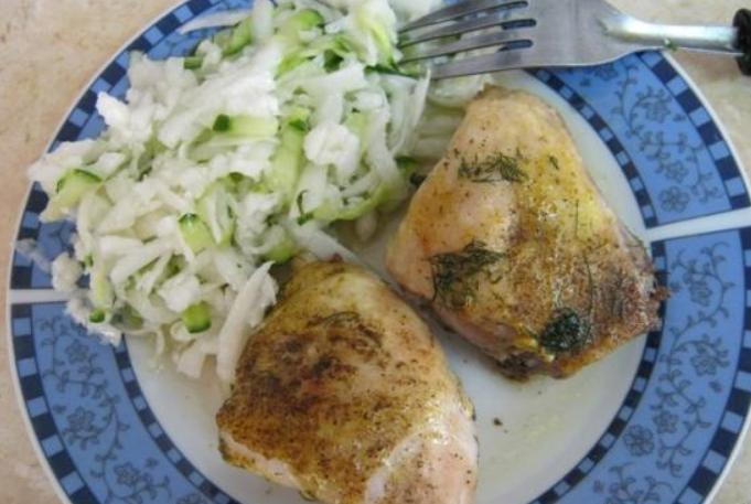 Курица кусочками в фольге - фото шаг 5