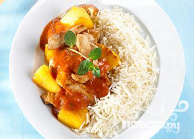 Рецепт Индейка с ананасом
