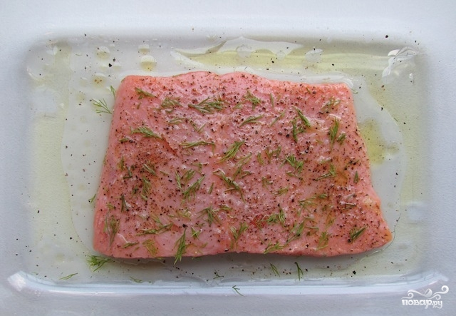 Филе лосося в духовке - фото шаг 3