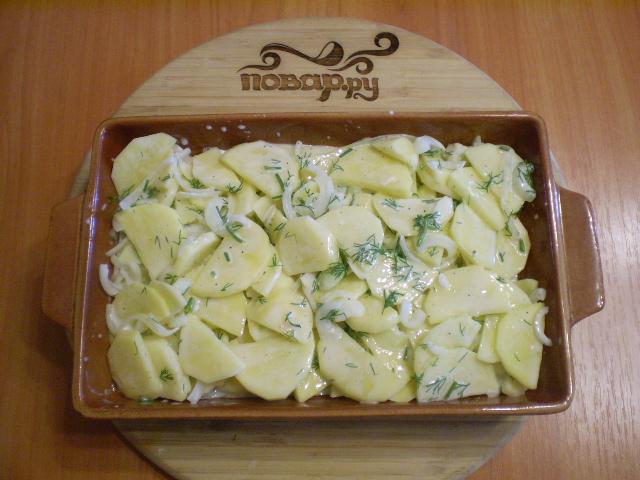 Картошка в кефире в духовке - фото шаг 6