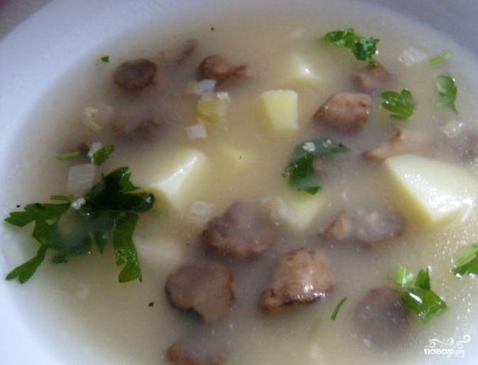 рецепты постный суп с грибами и