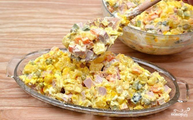 рецепты салатов на скорую руку с горошком