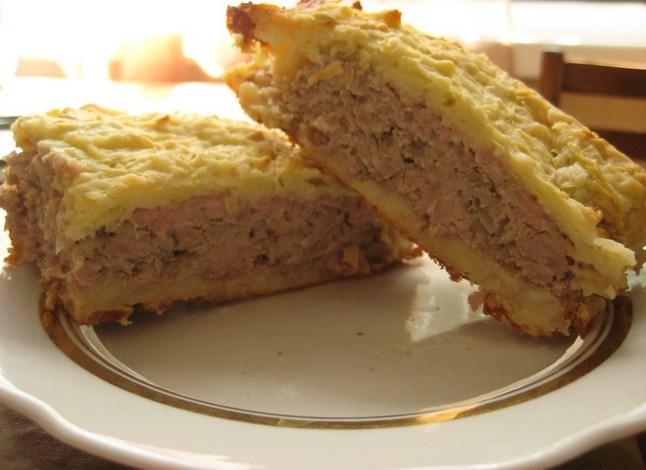 Кабачковый торт с фаршем - фото шаг 3