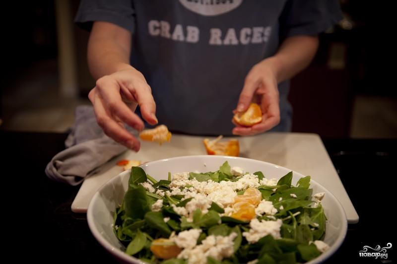 Салат с мандаринами - фото шаг 6