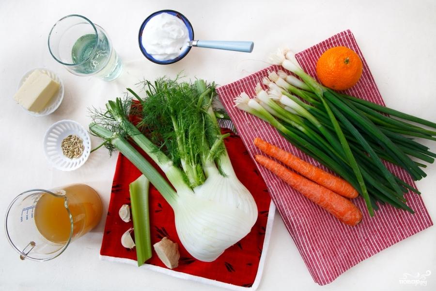 Морковный суп-пюре с фенхелем - фото шаг 1
