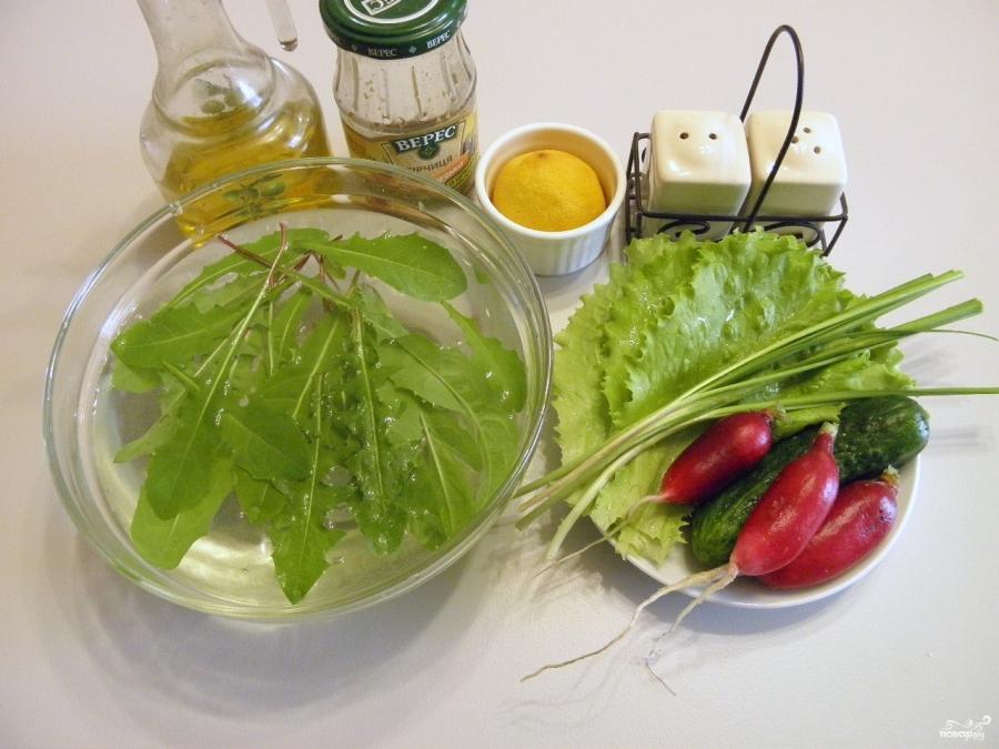 Как приготовить салат из одуванчиков