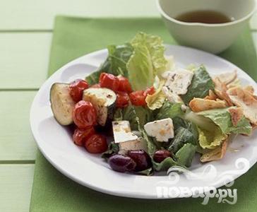 Рецепт Греческий салат с цуккини и помидорами