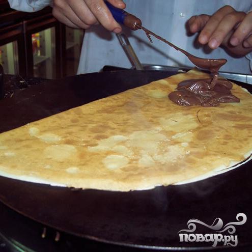 Блинчики с шоколадным ореховым кремом - фото шаг 4