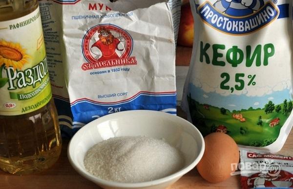 Рецепт из кефира и муки яиц и