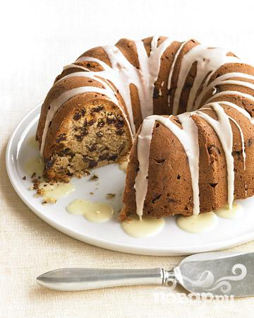 Рецепт Глазированный кекс с изюмом