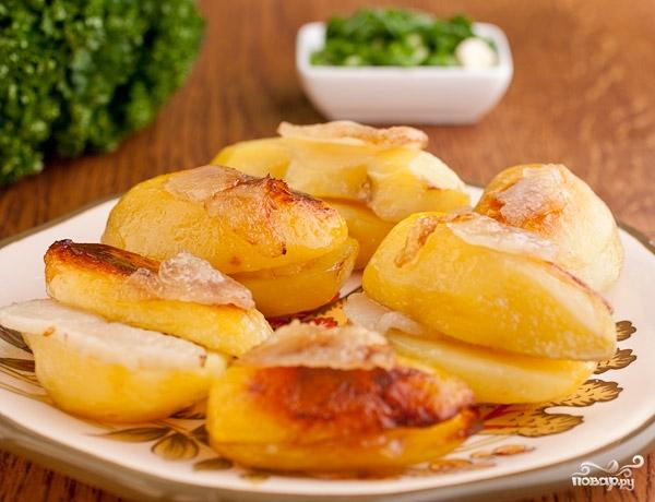 картофель целый в фольге в духовке рецепт
