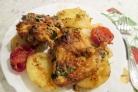 Крылышки с картошкой