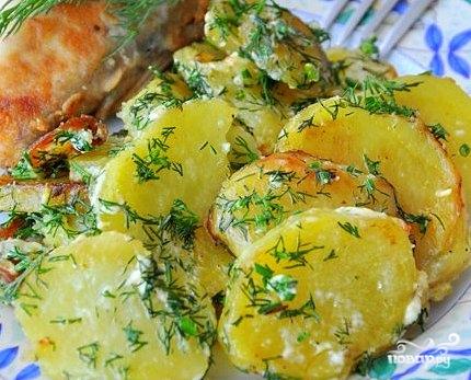 Картофель в сливках - фото шаг 7