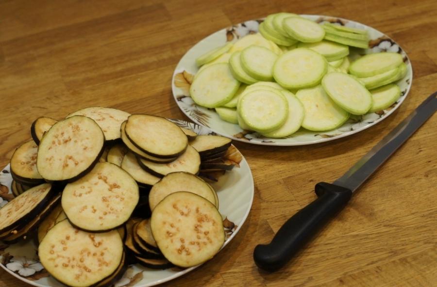 Рецепт Запеканка из кабачков и баклажанов