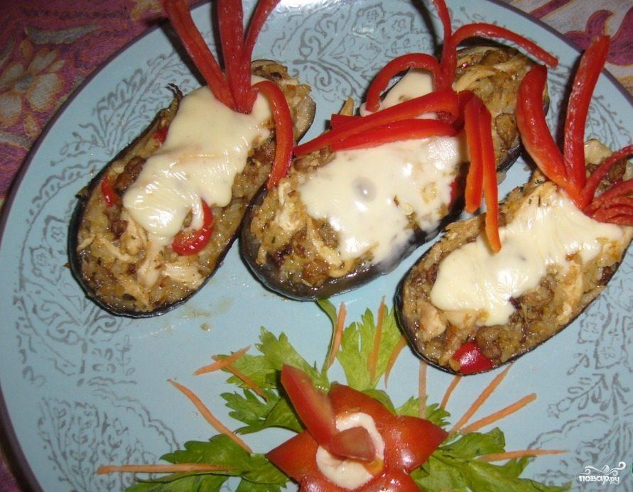 Курица с баклажанами и рисом