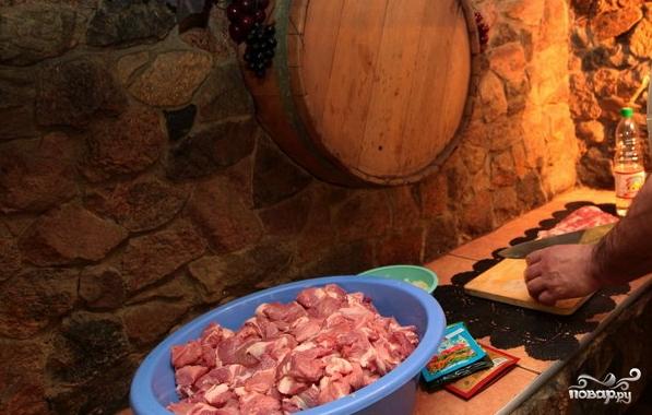 Грузинский шашлык из свинины - фото шаг 1