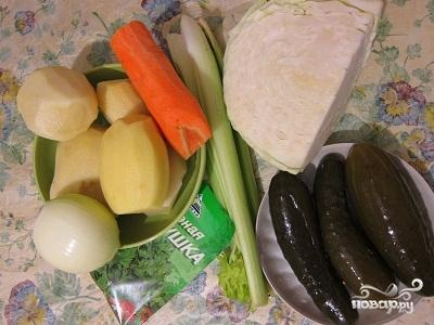 Рецепт Рассольник вегетарианский