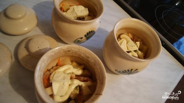 Индейка с картошкой в горшочке - фото шаг 6