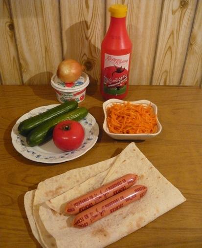 Рецепт Хот-дог в лаваше