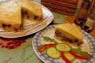 Печень с рисом в тесте