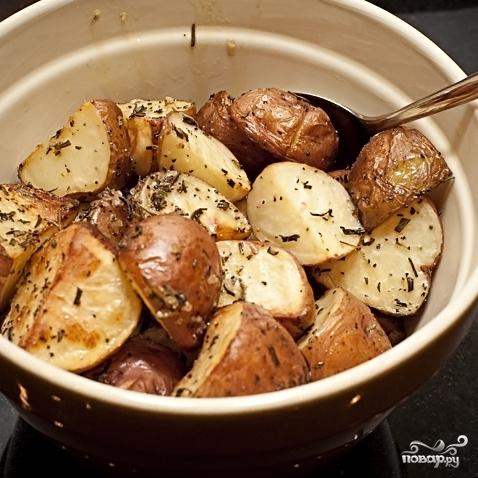 Картофель с розмарином - фото шаг 7