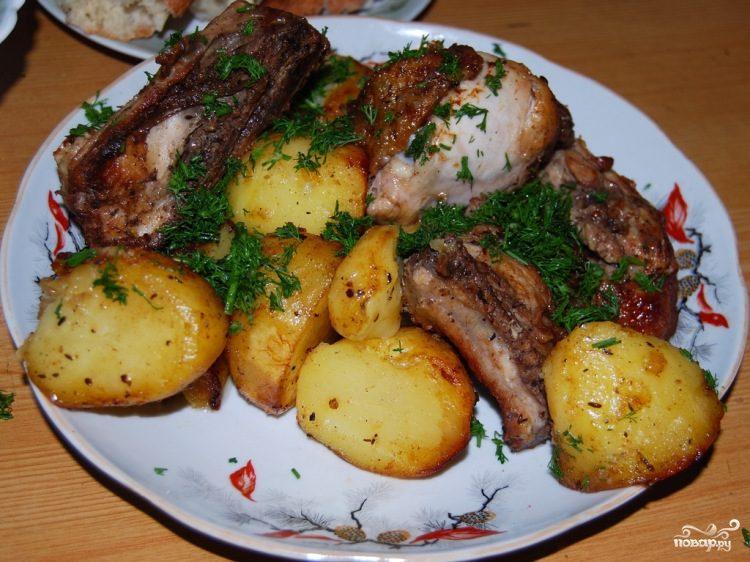 Курица в казане с картошкой