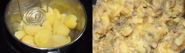 Пирожки с грибами и картошкой в духовке - фото шаг 2