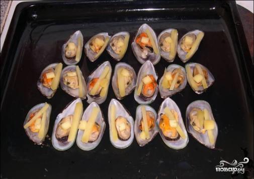 Мидии запеченные в духовке рецепт с фото