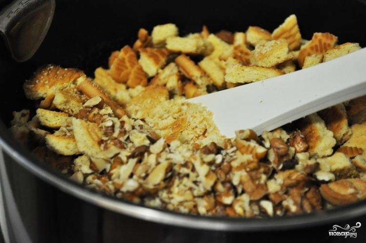 Кондитерская колбаса из печенья - фото шаг 3
