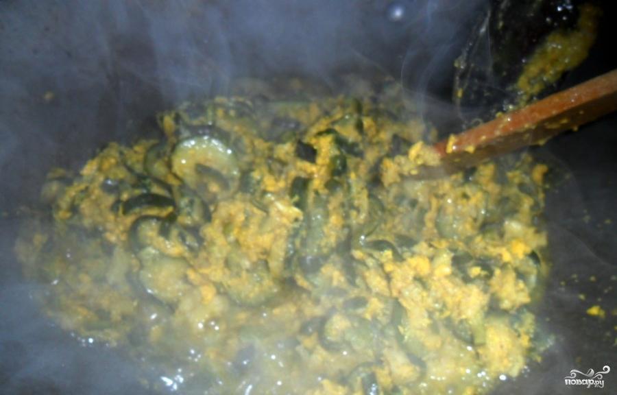 Кабачки с яйцом - фото шаг 5