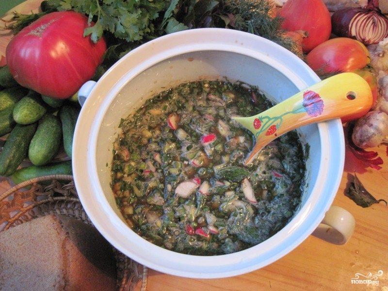 Рецепт Овощная окрошка
